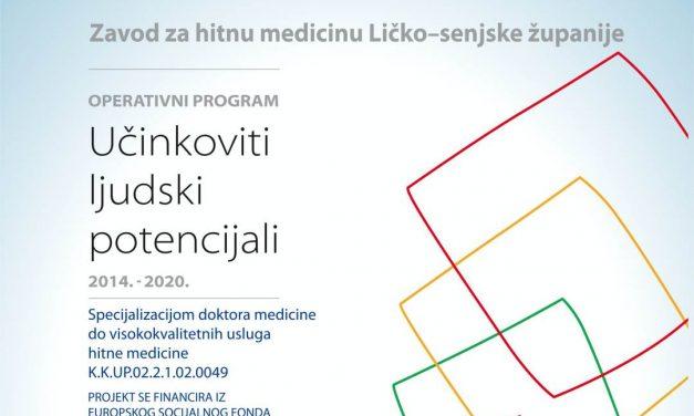 Projekt Specijalizacijom doktora medicine do visokokvalitetnih usluga hitne medicine